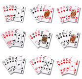 Pokerklassifizierungen Stockbilder