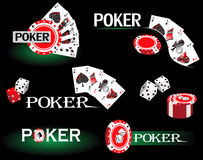 Pokerkort vektor illustrationer