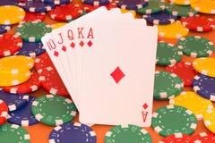 Pokerkort Fotografering för Bildbyråer