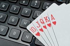 pokerlek Arkivbild