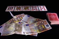 Pokerlek Arkivbilder