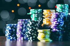 Pokerlek arkivfoto