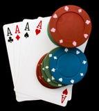 Pokernatt royaltyfria bilder