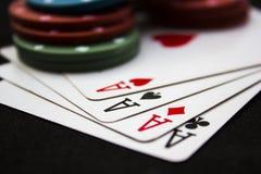 Pokernatt arkivbilder
