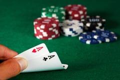 Pokerpar av överdängare Royaltyfri Foto