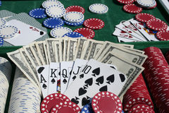 pokerprogress arkivbild