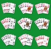 Pokerrang Arkivbild