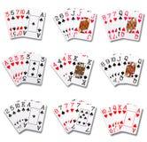 Pokerrang Arkivbilder