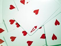 Pokers of playing cards Royalty Free Stock Images