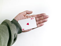 Pokers of playing cards Royalty Free Stock Photo