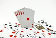 pokerseriers royaltyfria foton