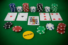 pokerset Royaltyfria Bilder