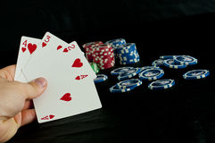 Pokerspiel stockfoto