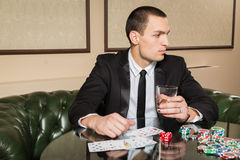 Pokerspieler Stockfoto