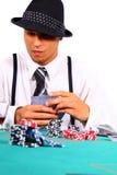 pokerstil arkivfoto