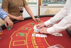 Pokertabell Royaltyfri Bild