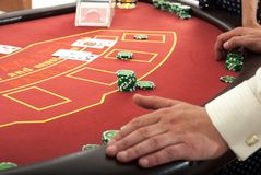 Pokertabell Fotografering för Bildbyråer