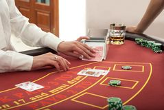 Pokertabell Arkivbild