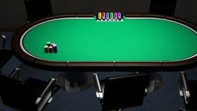 Pokertabellrum stock video