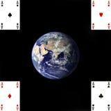 pokervärld Arkivfoton