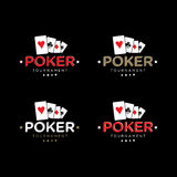 Pokervektor Logo Set Royaltyfri Foto