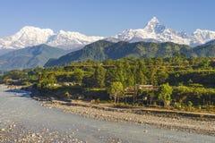 pokhara,尼泊尔自然秀丽  免版税图库摄影