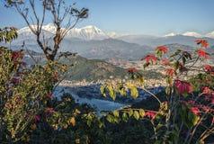 Pokhara και περιοχή Annapurna που αντιμετωπίζεται Στοκ φωτογραφία με δικαίωμα ελεύθερης χρήσης