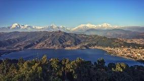 Pokhara και περιοχή Annapurna που αντιμετωπίζεται Στοκ φωτογραφίες με δικαίωμα ελεύθερης χρήσης
