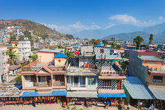 Pokhara aerial view Stock Photography