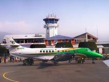 Pokhara Airport Himalayas Nepal stock images