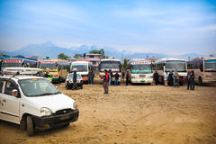 Pokhara bus stand Stock Image