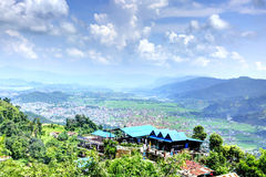 Pokhara city from the Ananda hill Royalty Free Stock Photos