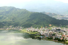 Pokhara city near the lake Stock Image