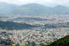 Pokhara city in the valley Royalty Free Stock Image