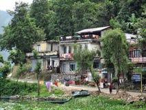 Pokhara de nepal da cabana da vila Fotografia de Stock Royalty Free