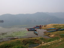 Pokhara del lago Imagen de archivo