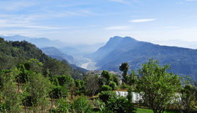Pokhara-dhampus Landschaft Stockfotografie