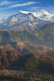 Pokhara and the Himalayas at Dawn, Nepal Royalty Free Stock Photography