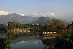 Pokhara, la ciudad de la belleza natural foto de archivo