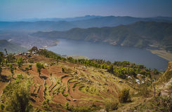 Pokhara lake Royalty Free Stock Photo