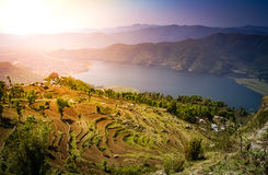 Pokhara lake Stock Photo