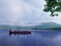 Pokhara lake taxi Stock Photography