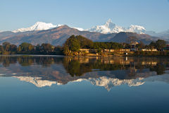 Pokhara Lakeside Image stock