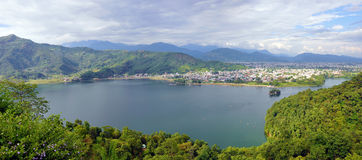 Pokhara landscape Royalty Free Stock Photo