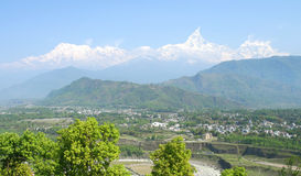 Pokhara and Machhapuchhre Stock Photography