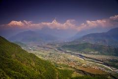 Pokhara and Machhapuchhre Royalty Free Stock Photography