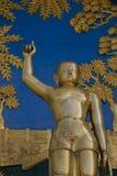 POKHARA, NEPAL, EL 20 DE MAYO: Oro Buda de la pagoda de la paz de mundo Fotos de archivo