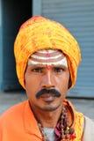 POKHARA, NEPAL - 5 GENNAIO 2015: Ritratto di un Sadhu o di un uomo santo Fotografia Stock Libera da Diritti