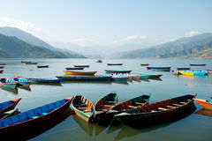 Pokhara, Nepal. This image shows a lake scene in Pokhara, Nepal royalty free stock photo