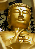POKHARA, NEPAL, 20 MAY: Gold Buddha from the World Peace Pagoda Royalty Free Stock Image